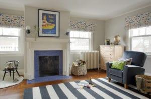 Dětský pokoj s kobercem - ilustrační obrázek, zdroj