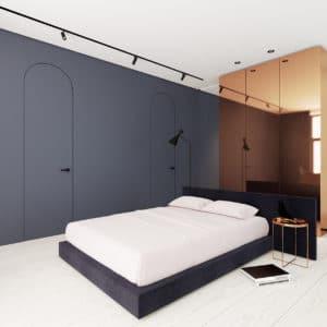 Minimalistická ložnice - zdroj
