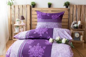 XPOSE ® Prodloužené bavlněné povlečení KATEŘINA - fialová 140x220, 70x90