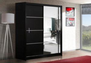 šatní skříň vista 180 černá