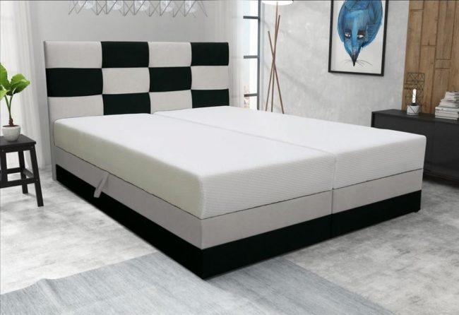 Manželská postel MONA včetně matrace
