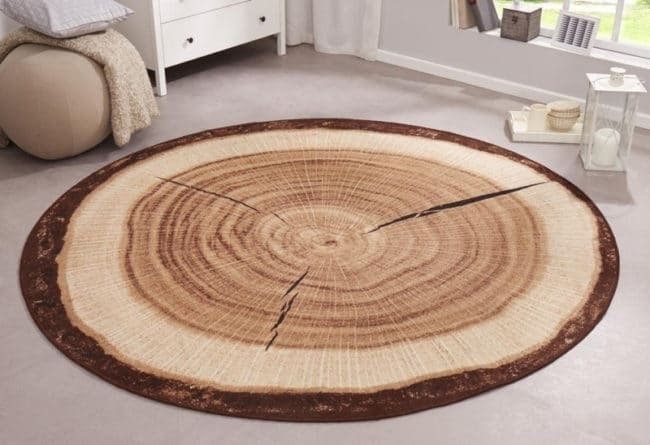 Hans Home   Kusový koberec BASTIA SPECIAL 101175 , hnědá - 100x100 kruh