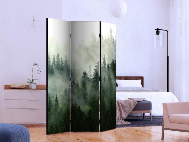 Paraván jehličnatý les (135x172 cm) - Murando DeLuxe