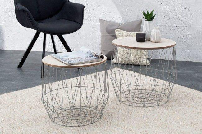 odkládací stolek 2 SET STORAGE GRAYOS37658