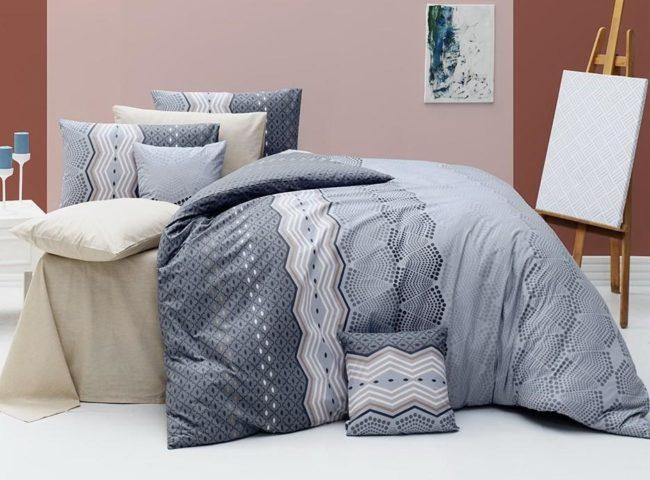 Ariatex Povlečení Ekinoks šedý 220x200, 2ks 70x90 FRANCIE - 100% bavlna