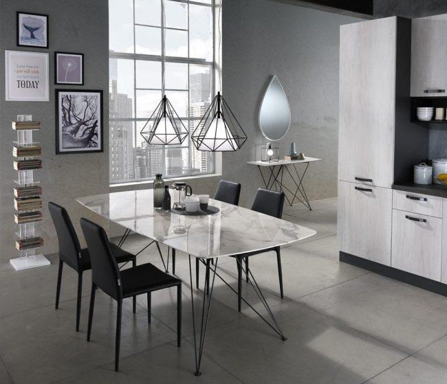Tomasucci Knihovna SHEER 148x30x30cm, bílo-černá