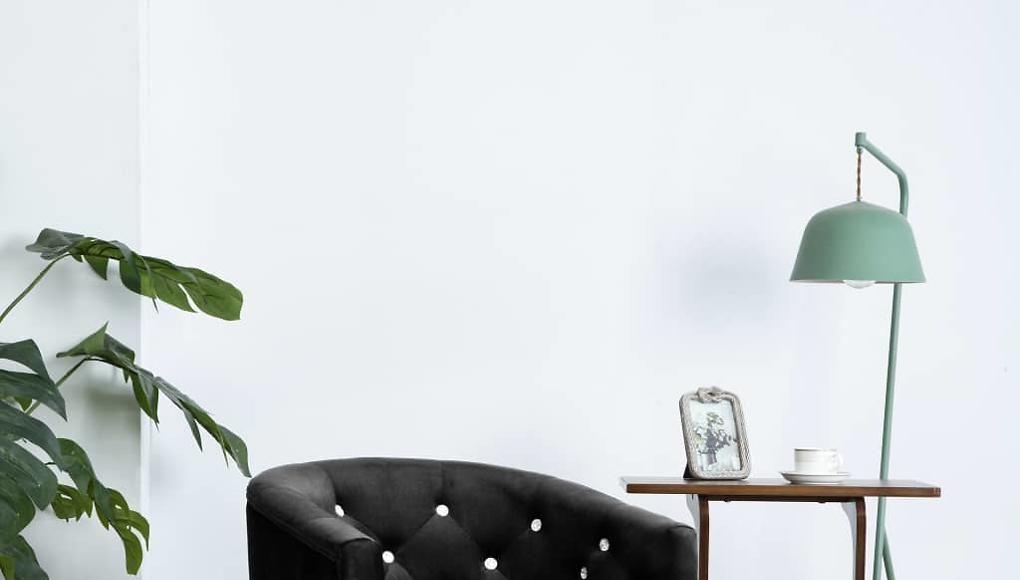 vidaXL Křeslo se sametovým čalouněním 65 x 64 x 65 cm černé