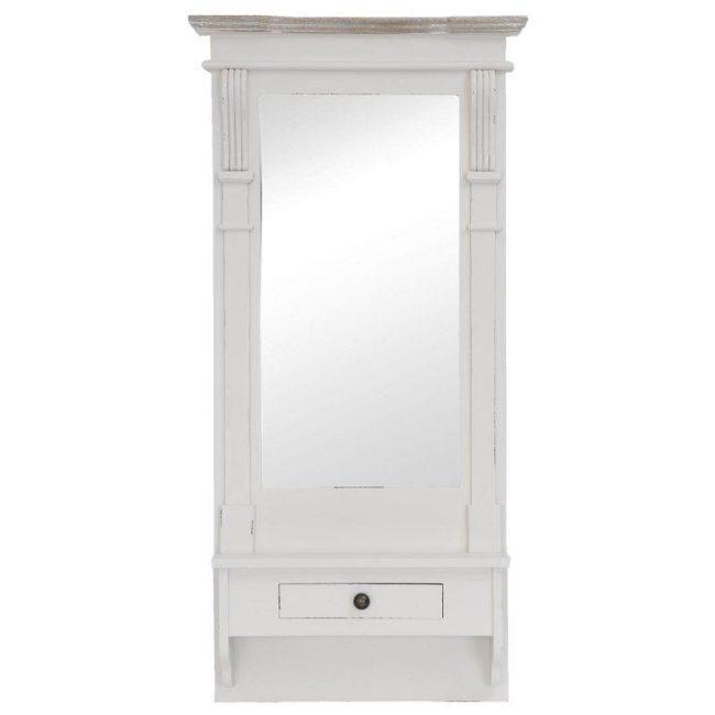Dřevěné nástěnné zrcadlo - 50 x 11 x 100 cm