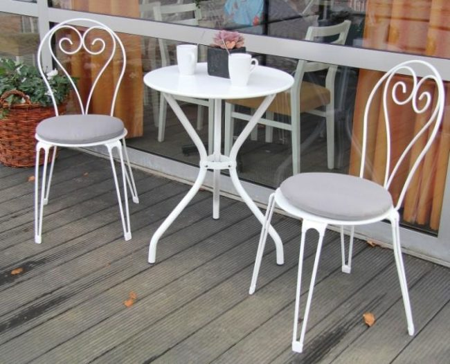 Ogrodos Kulatý stolek 60 cm do kavárny ANNECY: černá ocel