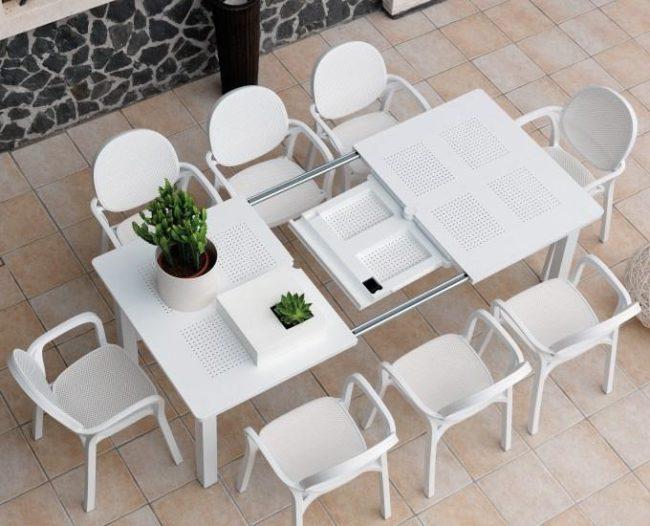 Ogrodos Obdélníkový rozkládací stůl 160-220 LEVANTE: antracitový polypropylén