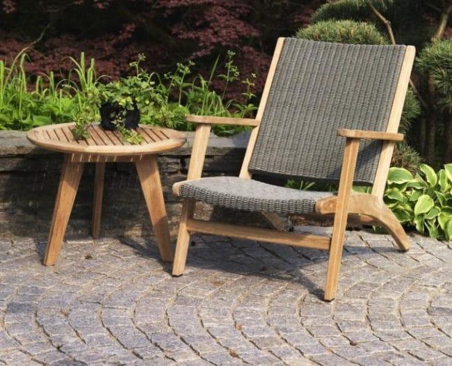 Ogrodos Kulatý stoleček teak 60 cm KASTOS