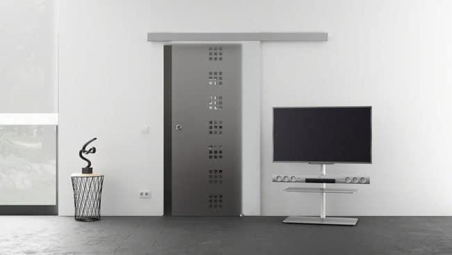 Skleněné posuvné dveře 775x2050