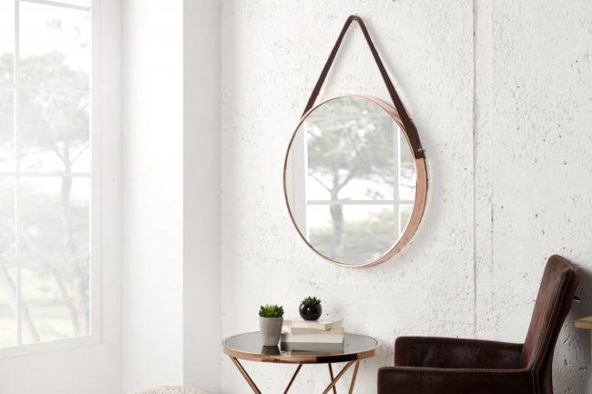 Nástěnné zrcadlo Portrait 45 cm měděné
