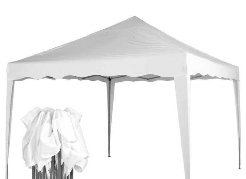 Zahradní párty stan / altán 3x3 m, nůžkový, bílý