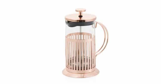 French press na čaj a kávu Brandani Rose Gold, 800 ml
