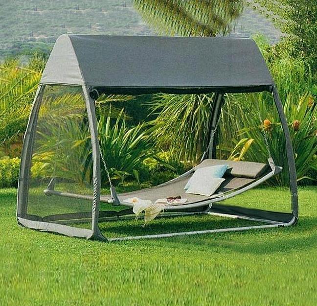 Zahradní relaxační lehátko s ochr.sítí AVENBERG Paradiso